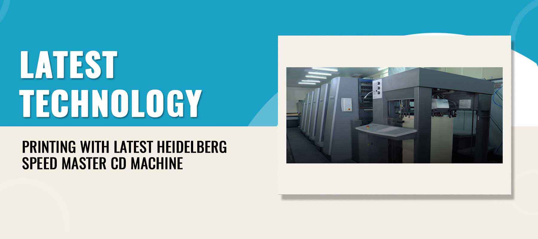 Printing With Latest Heidelberg Speed Master CD Machine